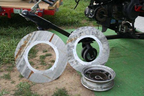 Щеки барабана скутерной лебедки